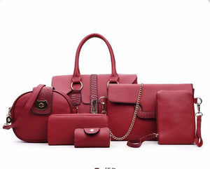 Loreta Luca Classic Handbag for Women (Wine)