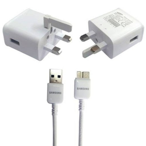 Samsung S5 Fast Charger & Data Cable-White
