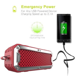 Zealot S6 Waterproof Portable Bluetooth Speakers Power Bank -Red