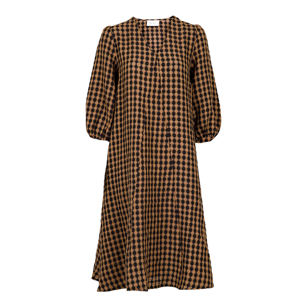 Neo Noir Kjole Tasia Airy Check Dress - Prinsesse2ben