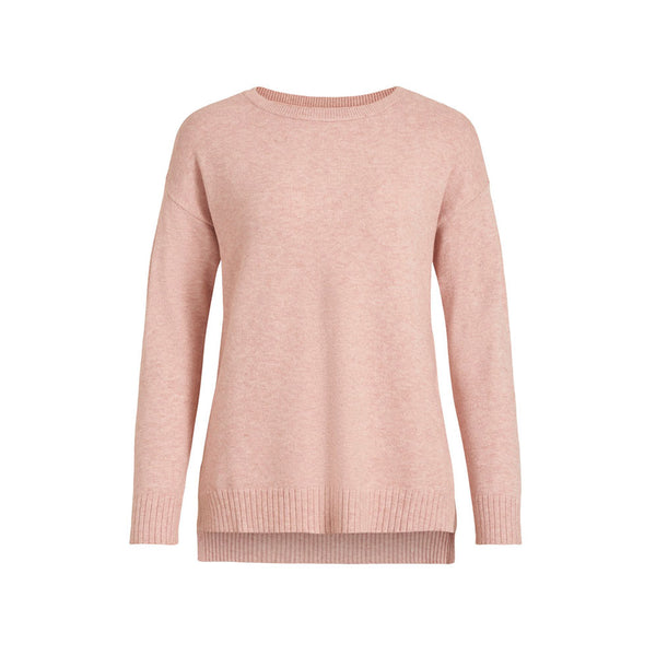 VILA Strik VIRIL HIGH LOW L/S KNIT TOP - Prinsesse2ben