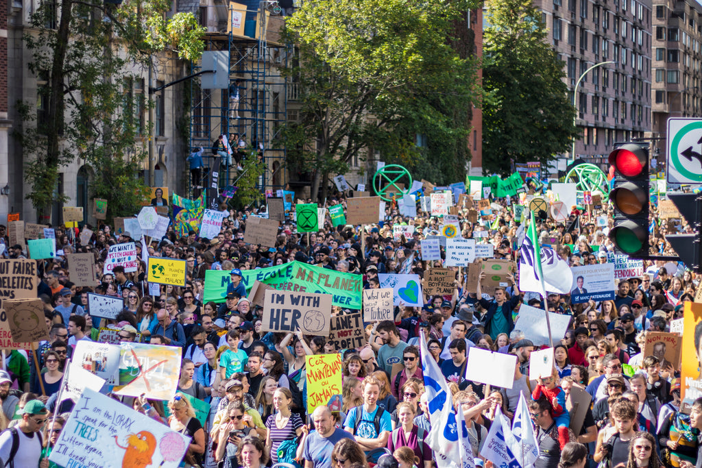 many Montrealers took to the streets to show support for Greta Thunberg and the strike for climate