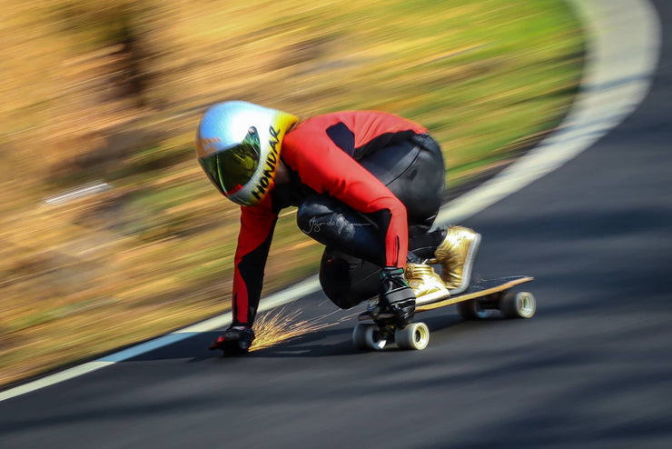 emily pross - 3 time world cup downhill skateboard champion