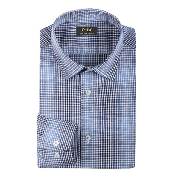 EXTRA SOFT CARBON PEACHED CHECK SHIRT