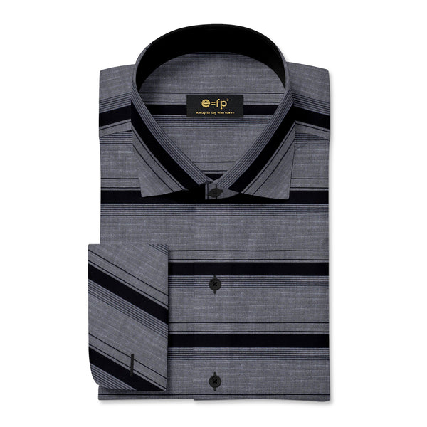 HORIZONTAL COTTON STRIPE SHIRT - 2 COLORS