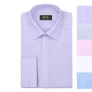 EASY CARE HERRINGBONE COTTON SHIRT - 5 COLORS