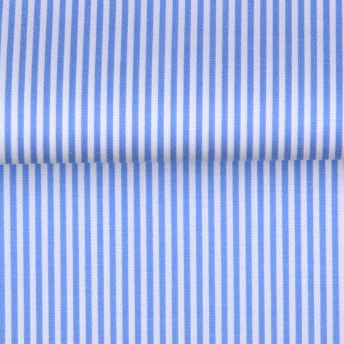 PREMIUM EASY IRON  STRIPE SHIRT WITH CONTRAST DETAIL - 3 COLORS