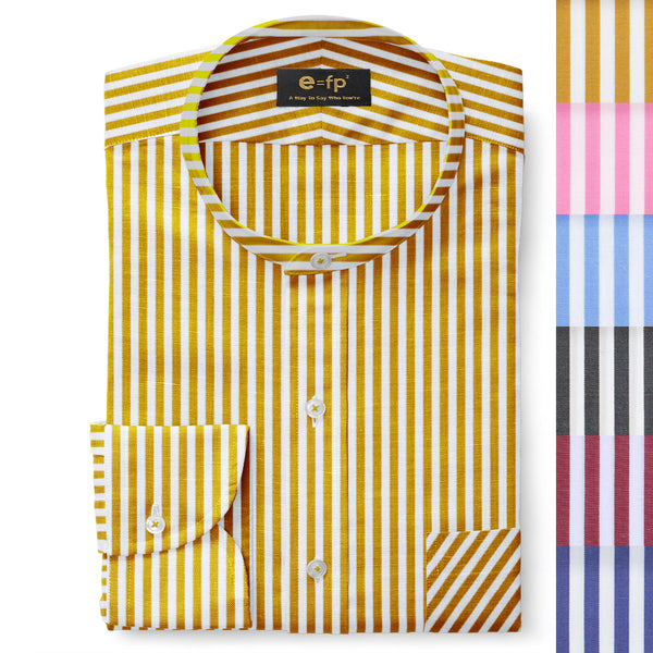 STRIPED COTTON SHIRT - 6 COLORS