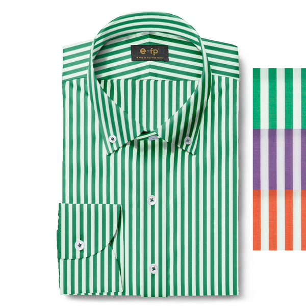 STRIPED COTTON SHIRT - 3 COLORS