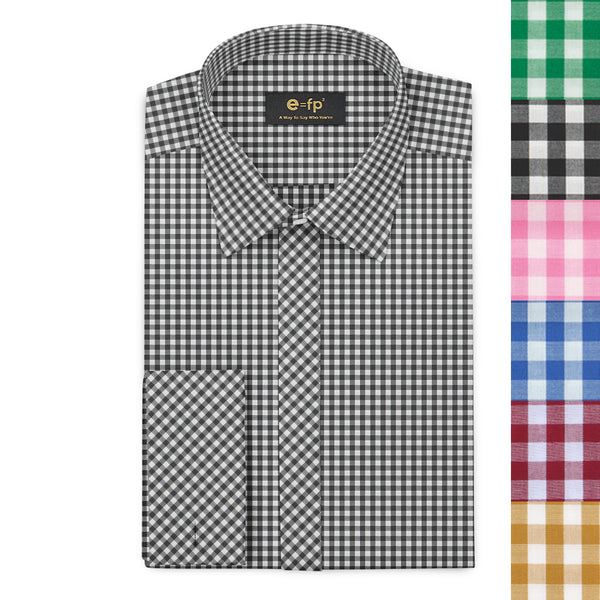 GINGHAM CHECK SHIRT - 6 COLORS