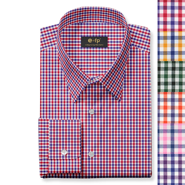 COTTON GINGHAM SHIRT - 6 COLORS