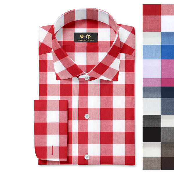 COTTON CHECK SHIRT - 6 COLORS