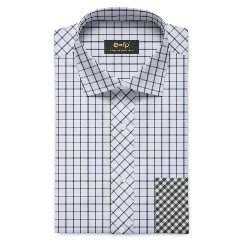 COTTON CHECK SHIRT WITH OR WITHOUT CONTRAST DETAIL