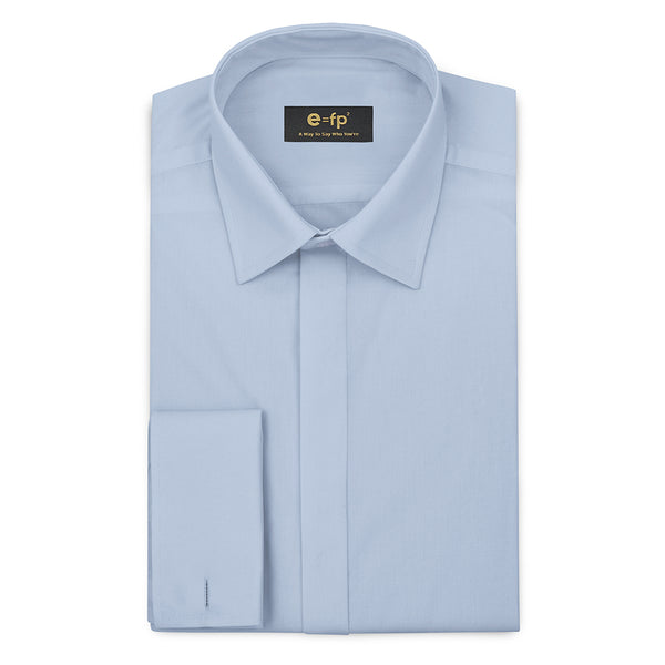 LIGHT BLUE COTTON WOOL SHIRT