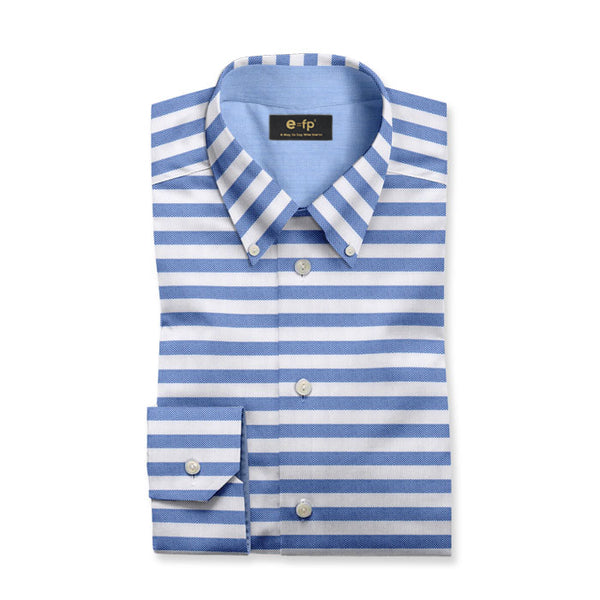 MOISTURE WICKING HORIZONTAL STRIPE SHIRT - 3 COLORS