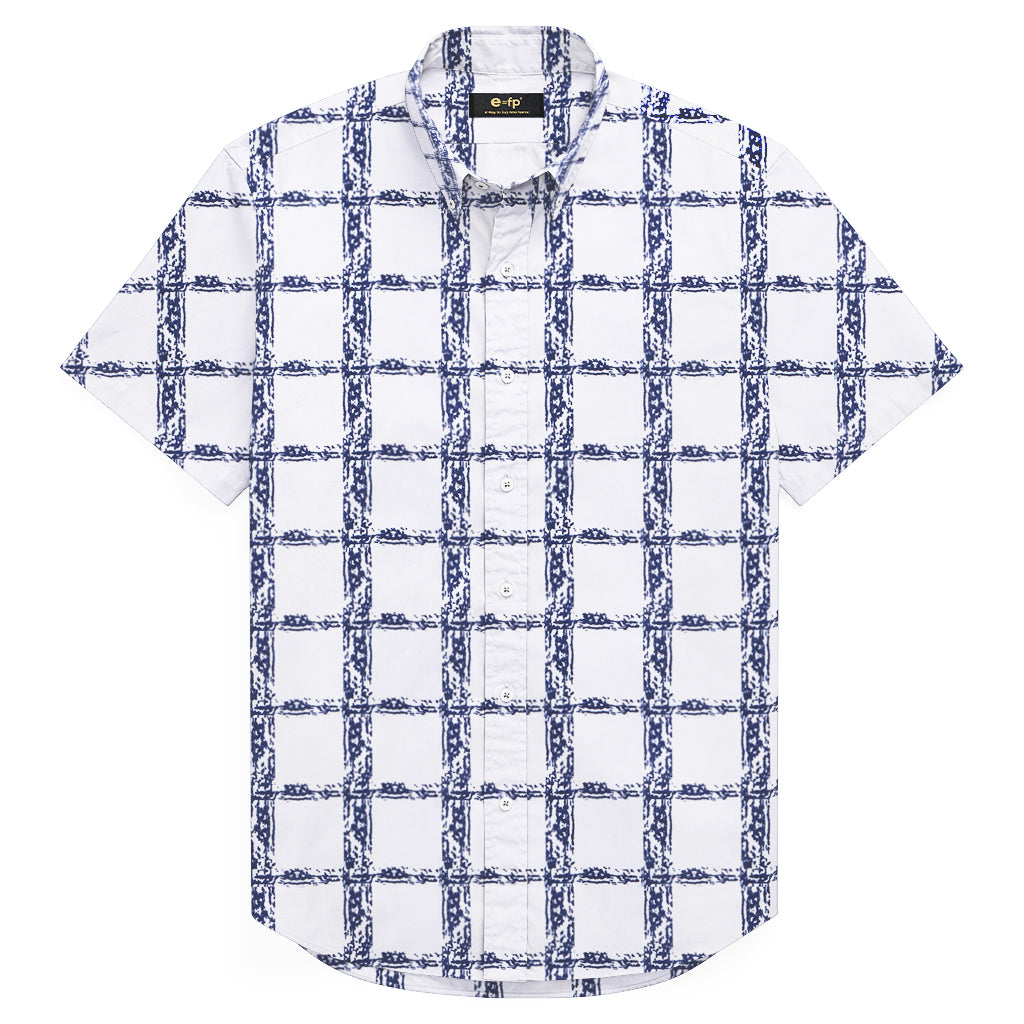 COTTON LINEN PRINT SHIRT