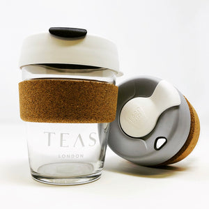 TEAS London UK - Branded KeepCup - Black White or Dove Grey White