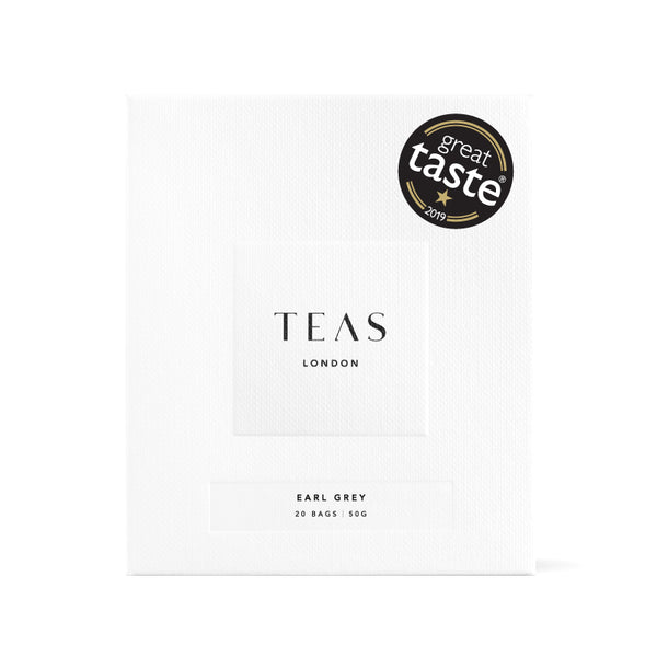 TEAS London UK - Earl Grey Black Tea Bags Box