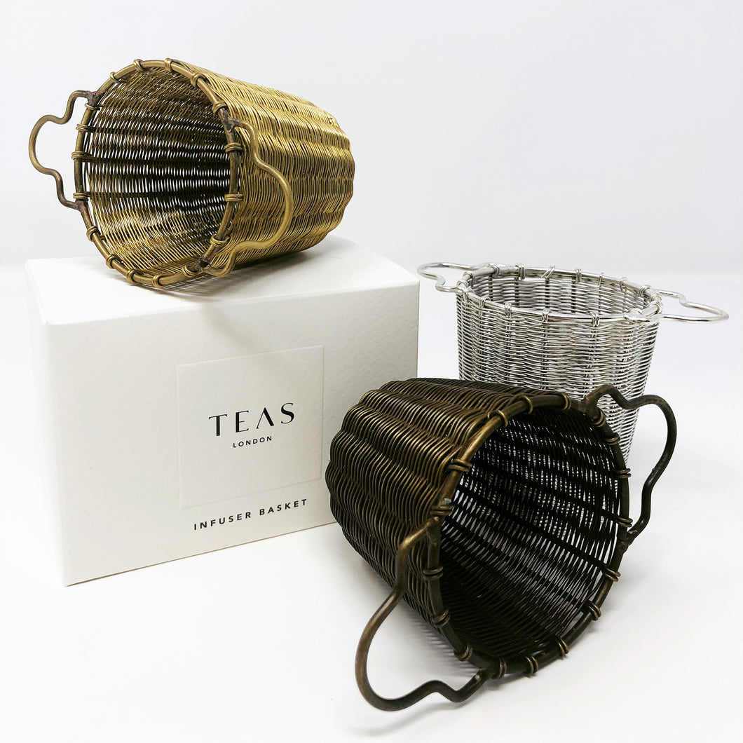 TEAS London UK - Handmade Infuser Baskets - Gold, Silver & Bronze