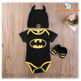 01 - Batman Baby Outfit - Short Sleeves