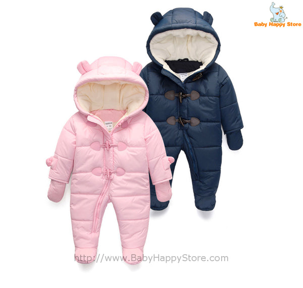 01 - Newborn Winter Hooded Suit - Promo 01