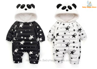01 - Panda Hooded Star Pattern Winter Baby Romper Coat - Promo 01