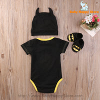 02 - Batman Baby Outfit - Short Sleeves