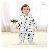 02 - Panda Hooded Star Pattern Winter Baby Romper Coat - Promo 02