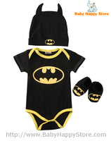03 - Batman Baby Outfit - Short Sleeves