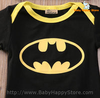 05 - Batman Baby Outfit - Short Sleeves