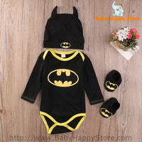 06 - Batman Baby Outfit -  Long Sleeves