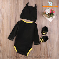 07 - Batman Baby Outfit -  Long Sleeves