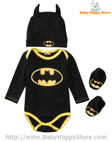 08 - Batman Baby Outfit -  Long Sleeves
