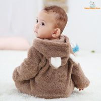 08 - Newborn Baby Bear Romper - Light Brown 08