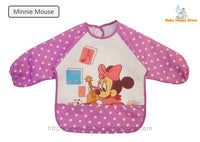 13 - Long Sleeve Waterproof Baby Bibs 0-2 Years - Minnie Mouse