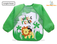15 - Long Sleeve Waterproof Baby Bibs 0-2 Years - Jungle Fever