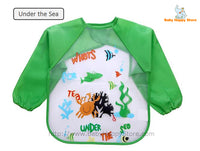 17 - Long Sleeve Waterproof Baby Bibs 0-2 Years - Under the Sea