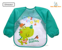 18 - Long Sleeve Waterproof Baby Bibs 0-2 Years - Dinosaur