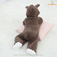 18 - Newborn Baby Bear Romper - Dark Brown 08