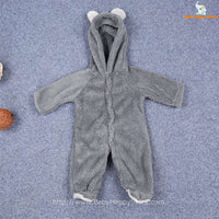 19 - Newborn Baby Bear Romper - Gray 01