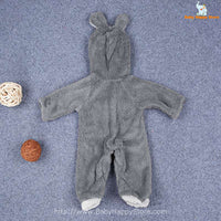 20 - Newborn Baby Bear Romper - Gray 02