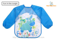 21 - Long Sleeve Waterproof Baby Bibs 0-2 Years - Fun in the Jungle