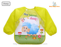 23 - Long Sleeve Waterproof Baby Bibs 0-2 Years - Sheep