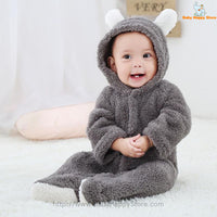 24 - Newborn Baby Bear Romper - Gray 06