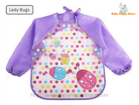 24 - Long Sleeve Waterproof Baby Bibs 0-2 Years - Lady Bugs