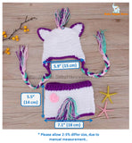 25 - Handmade Baby Unicorn Crochet Outfit - Size