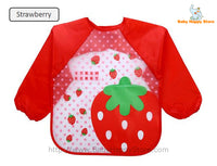25 - Long Sleeve Waterproof Baby Bibs 0-2 Years - Strawberry