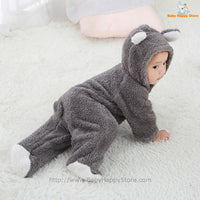 27 - Newborn Baby Bear Romper - Gray 09