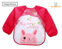 27 - Long Sleeve Waterproof Baby Bibs 0-2 Years - Happy Bunny
