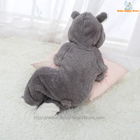 28 - Newborn Baby Bear Romper - Gray 10